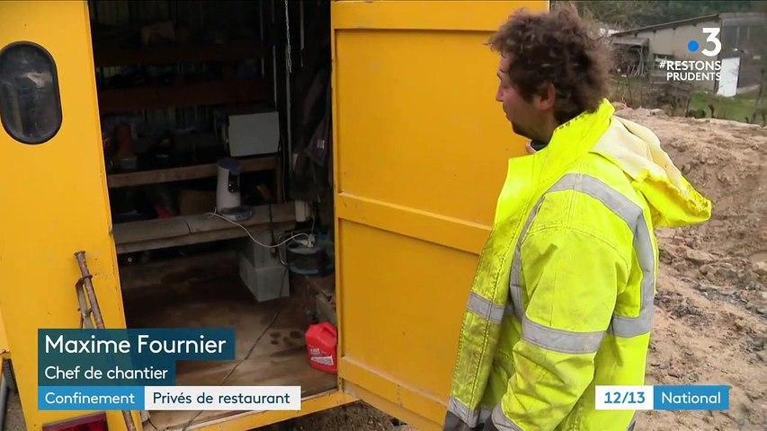 Confinement : la fermeture des restaurants, un problème pour les ouvriers du bâtiment