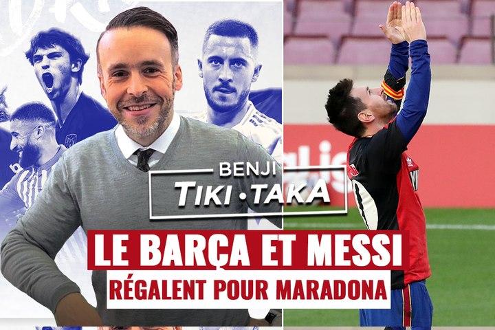 Benji Tiki-Taka : Le Barça fait le show pour Maradona