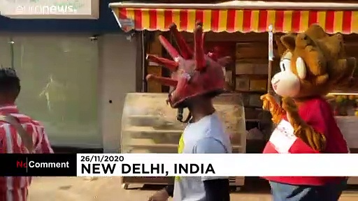 Campagne de prévention anti-Covid originale à New Delhi