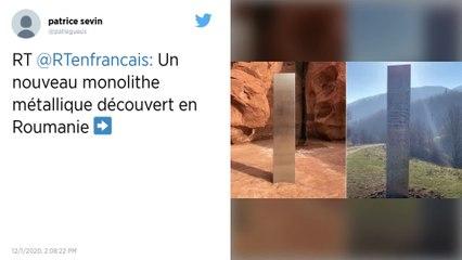 Après l'Utah, un nouveau monolithe retrouvé en Roumanie