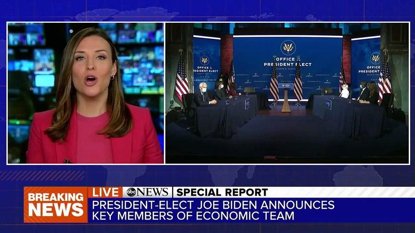 President-elect Joe Biden announces key members of his economic team