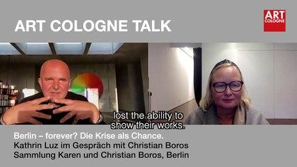 Art Cologne Talk: Christian Boros, Sammlung Karen und Christian Boros