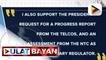 Request ni Pangulong #Duterte na magkaroon ng progress report ang telcos, suportado ni Sen. Poe; Senado, handang mag-demand ng kopya ng report ng telcos at timeline ng NTC; Pagdinig sa franchise renewal ng Dito Telco, isasagawa sa Dec. 7