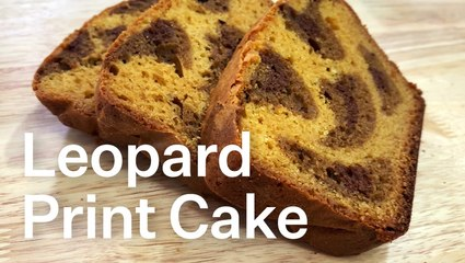 How To Make Leopard Print Cake That Melts In Your Mouth