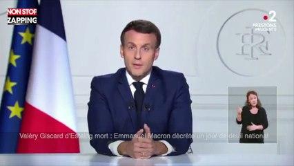 Valéry Giscard d'Estaing mort : Emmanuel Macron décrète un jour de deuil national (vidéo)