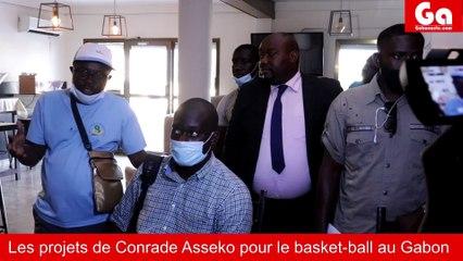 Conrad Asseko Candidat à la fédération gabonaise de Basket-ball face à la presse