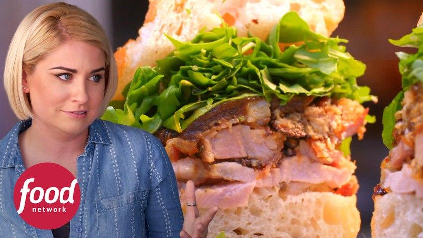 Sanduíche suculento de porchetta de porco | Courtney Rada: A Rainha das Carnes | Food Network Brasil
