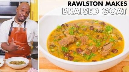 Rawlston Makes Braised Goat