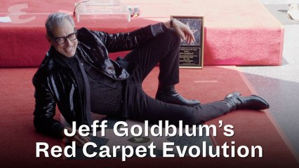 Jeff Goldblum Red Carpet Evolution
