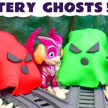 Paw Patrol Mystery Ghosts Game with the Charged Up Super Paws Mighty Pups and Thomas and Friends with the Funny Funlings in this Family Friendly Full Episode English Spooky Challenge Video for Kids from a Kid Friendly Family Channel