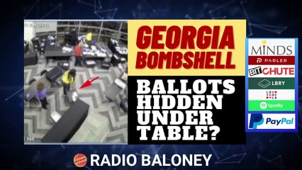 GEORGIA ELECTION BOMBSHELL VIDEO - BOXES OF VOTES UNDER TABLE?