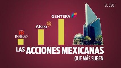 ¿Cuáles son las acciones mexicanas que más se beneficiaron en noviembre?