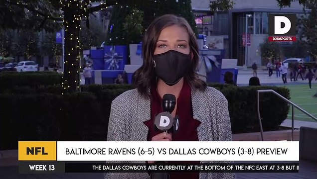 Baltimore Ravens (6-5) vs Dallas Cowboys (3-8) Preview