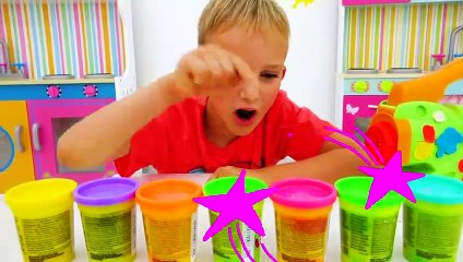 Vlad and Niki play with photos - Funny videos for kids
