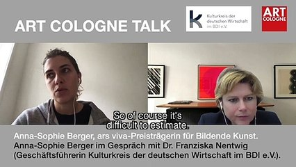 Art Cologne Talk: Anna-Sophie Berger