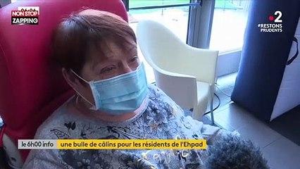 Coronavirus : Un Ehpad met en place une bulle de câlins (vidéo)