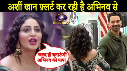 Bigg Boss 14 :_Arshi Khan Flirts With Abhinav Shukla In Front Of Rubina Dilaik