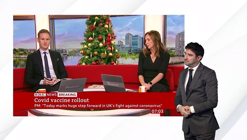 Covid-19 vaccine First person receives Pfizer Covid-19 vaccine in UK  @BBC News live – BBC