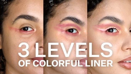 How To Create 3 Versions Of A Colorful Liner Makeup Look