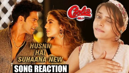 Husnn Hai Suhaana New Song Reaction - Coolie No. 1 | Varun Dhawan | Sara Ali Khan |_Chandana