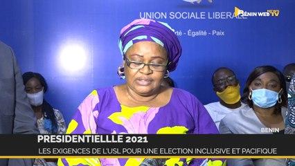Bénin-Présidentielle 2021 : les exigences de l'USL pour une élection inclusive et pacifique