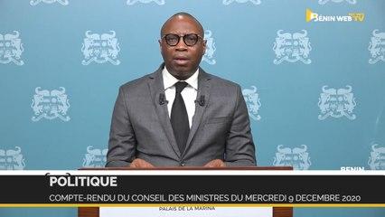 Bénin : compte-rendu du conseil des ministres du mercredi 9 décembre 2020