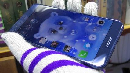 Обзор Huawei Honor 8 Pro, синего большого смартфона