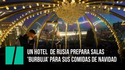 Un hotel  de Rusia prepara salas 'burbuja' para sus comidas de Navidad