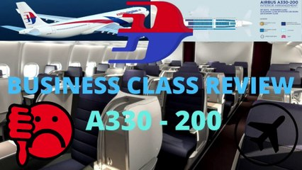 Malaysian Airlines DIRTINESS Business Class Flight Review  - Kuala Lumpur To Auckland. DISGUSTING
