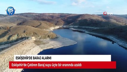 Eskişehir'de baraj alarmı
