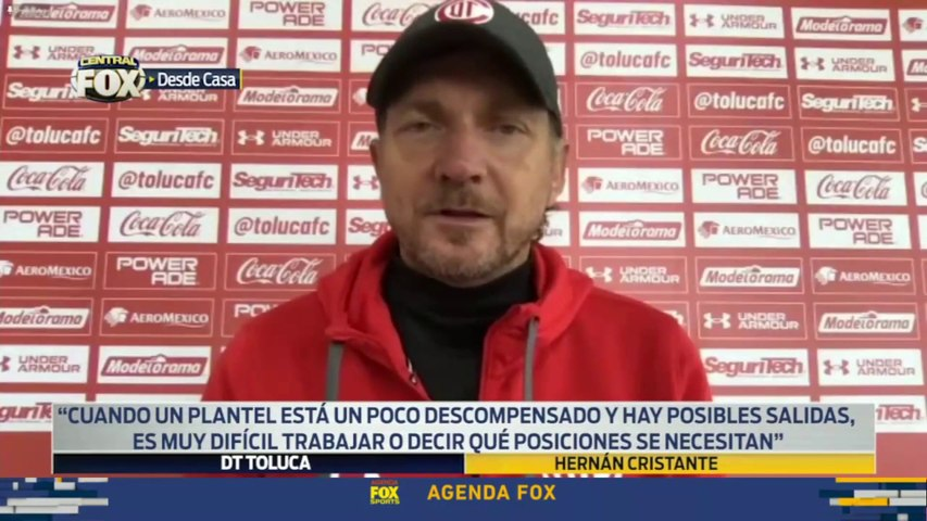 """Buscaremos refuerzos del futbol mexicano"", Hernán Cristante: Liga MX"