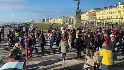 Brighton anti-vaccination protest