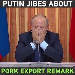 Vladimir Poutine mort de rire après que l'un de ses ministres suggère d'exporter du porc dans des pays musulmans
