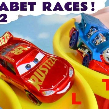 2nd Alphabet Funny Funlings Race with Hot Wheels Cars and Disney Pixar Cars 2 Lightning McQueen in this Learn English Family Friendly Full Episode English Toy Story for Kids from a Kid Friendly Family Channel