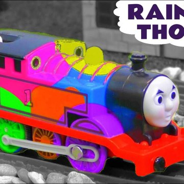 Rainbow Thomas the Tank Engine with the Funny Funlings and Marvel Avengers Hulk in this Family Friendly Full Episode English Toy Story Video for Kids from Kid Friendly Family Channel Toy Trains 4U