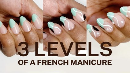 How To Create 3 Easy, Colorful Versions Of A French Manicure