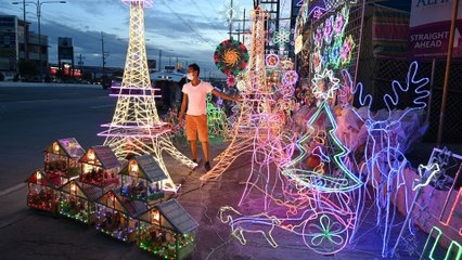 Philippines celebrates Christmas with decorations, but Covid-19 cancels parties and big gatherings