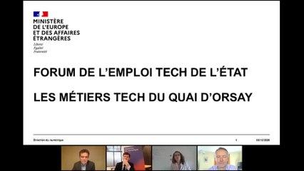 Quels sont les métiers tech du ministère de l'Europe et des Affaires étrangères ?