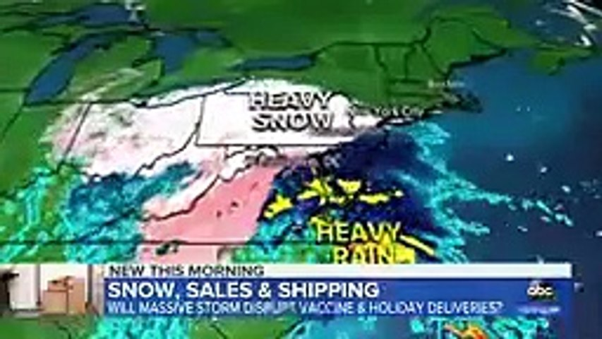 Winter storm threatens vaccine and holiday shipping