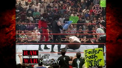 Mankind w/ Kane & Paul Bearer Challenges The Undertaker To A Match! 8/9/98
