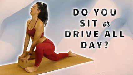 Yoga for People Who Sit All Day: Tight Hamstrings, Low Back Pain Relief, 20 Minute Class, Stretches