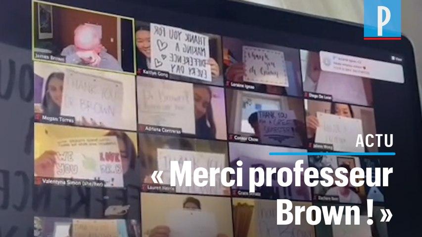 Des étudiants américains font pleurer leur professeur en lui rendant hommage sur Zoom