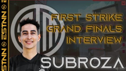 TSM Subroza | Exclusive Valorant First Strike Interview