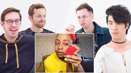 The Try Guys Narrate a Makeup Tutorial