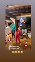 Leiva, Lucas balla insieme alla figlia Valentina