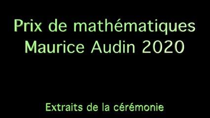 Prix Maurice Audin 2020  Interventions de Cedric Villani et Pierre Audin
