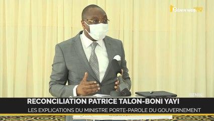 Réconciliation Talon-Yayi: Les explications du ministre porte-parole du gouvernement