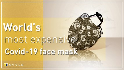 World's most expensive Covid-19 face mask costs US$1.5 million