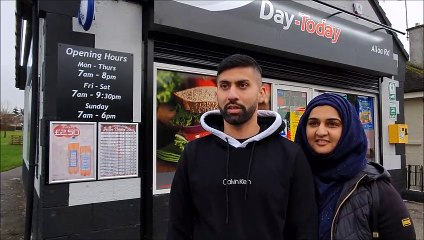 Day-Today Stenhousemuir owners Jawad Javed and AsiyahJaved helping the conmmunity