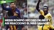 Pelé envía emotivo mensaje a Messi tras igualar su récord de goles